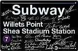 1986 New York Mets Team Signed NYC Metal Subway