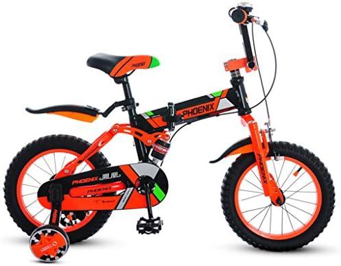 Fenfen Bicicletas para Niños 3-4 Años de Edad Bicicleta Plegable para Niños Cochecito DE 14 Pulgadas Bicicleta de Montaña Naranja (Color : Orange)