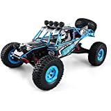 JJRC Q39 RC Cars Off-Road Rock Vehicle High Lander 1:12 Scale 4WD RC Desert Truck - 35 km / h+ Fast Speed / 1kg High-torque Servo / 7.4V 1500mAh LiPo - All Terrain Dune Buggy(Blue)(Blue)