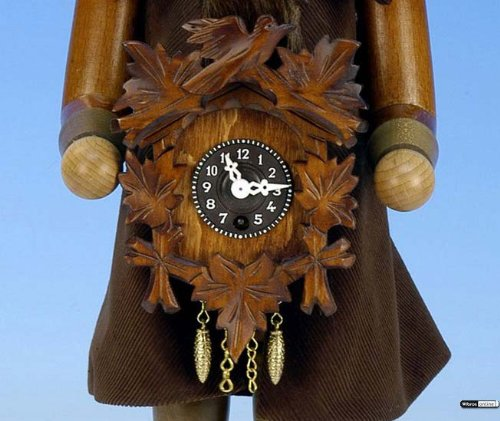 German Christmas Nutcracker Blackforest Clockmaker natural colors - 41,5 cm / 16 inch - Christian Ulbricht by Authentic German Erzgebirge Handcraft (Image #1)