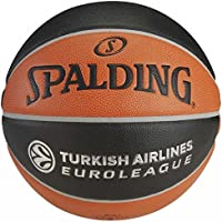 Spalding Tf1000 Turkish Airlines Euroleague Basket Topu No:7, Unisex, Turuncu/Siyah/Gri