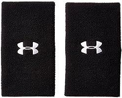 under armour pulsera de rendimiento, 15.2cm, Negro/Blanco, Una talla