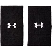 "Under Armour 6"" Performance Wristband, Black (001)/White, One Size"