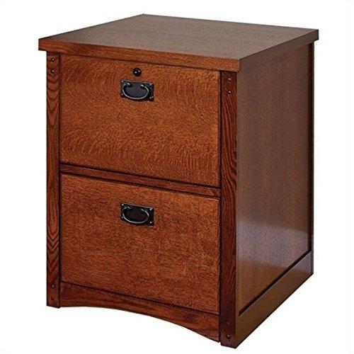 Martin Furniture Kathy Ireland Mission Pasadena Collection Two-Drawer Vertical Oak File Cabinet