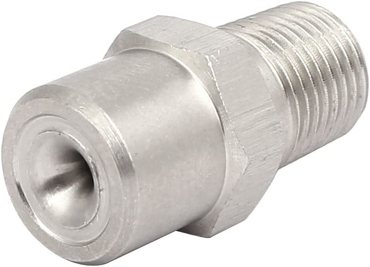 uxcell 1//8BSP 304 Stainless Steel Wide Angle Axial Whirl Full Cone Spray Tip