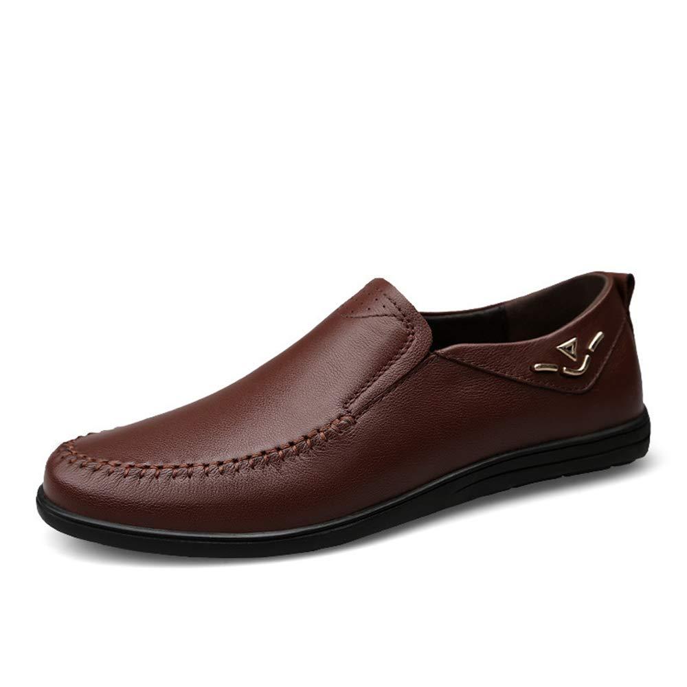 Stiefelschuhe Männer Handmade Mokassin Schuhe Gommino Casual Echtem Leder Schuhe Mokassin Fahren Schuhe Flache Schuhe Business Schuhe (Größe: 23,0 cm 28,0 cm) Schwarz/Braun Mokassin Gommino Braun 353e78