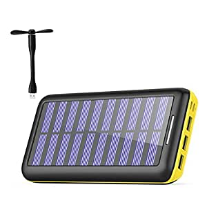 Amazon com: Solar Charger WOOYHN 24000mAh Battery Pack High