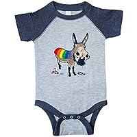 inktastic Cute Democratic Donkey LGBT I Voted Infant Creeper