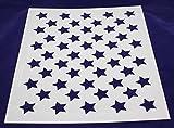50 Star Field Stencil 14 Mil -17.5''W X 14''H - Painting /Crafts/ Templates
