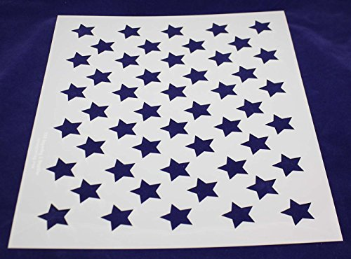 50 Star Field Stencil 14 Mil -17.5''W X 14''H - Painting /Crafts/ Templates by TCR Templates