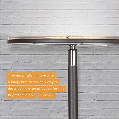 Brightech Sky LED Torchiere Super Bright Floor Lamp - Tall Standing Modern Pole Light for Living Rooms & Offices - Dimmable Uplight for Reading Books in Your Bedroom etc - Dark Bronze by Brightech (Image #2)