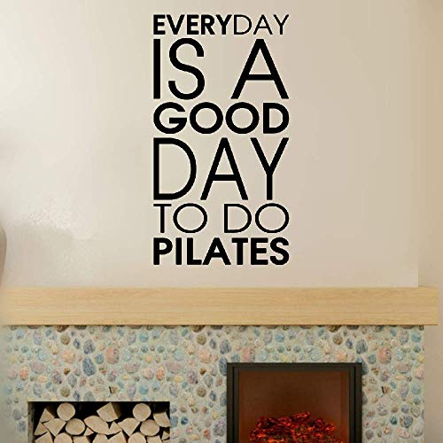 (Wall Stickers Design Art Words Sayings Removable Lettering Everyday is A Good Day to Do Pilates Sport Quote for)