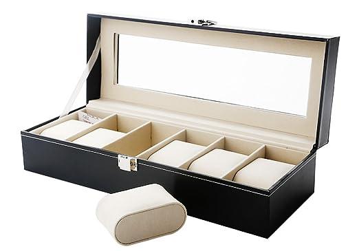 Zogin - Caja porta relojes con compartimentos para dejar los relojes bien ordenados: Amazon.es: Hogar