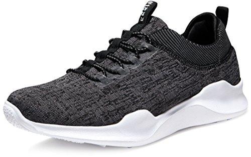 Tesla TF-E734-DGY_Men 10.5 D(M) Unisex Knit Design Running Walking Sneakers Performance Shoes E734