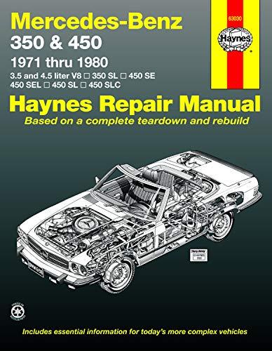 Mercedes-Benz 350 SL Roadster, 450 SL/SLC Coupe & Roadster, 450 SE/SEL V8 Sedan (71-80) Haynes Repair Manual (Haynes Repair Manuals) (Mercedes Auto Parts)
