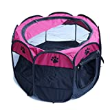 PanDaDa Pet Portable Foldable Playpen Exercise Kennel Dogs Cats Indoor/Outdoor Removable Mesh Shade Cover