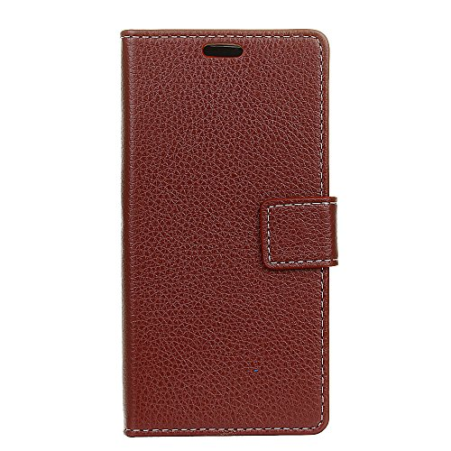 Scheam Xiaomi Black Shark Genuine Leather Wallet Case Cover, Flip Stand, Card Slot, Stylish, Brown