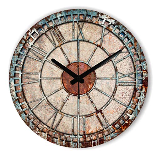 Frozen Decorative Wall Clock Modern Design Warranty 3 Years Mute Large Wall Clock Watch Shabby Chic Home Decor Living Room Klok Style 3 12inch 30cm