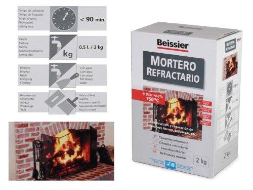 Beissier M259715 - Mortero refractario en polvo 2 kg: Amazon.es: Bricolaje y herramientas