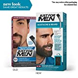 Just For Men Mustache and Beard, Beard Coloring for Gray Hair with Brush Included - Color: Deep Dark Brown, M-46