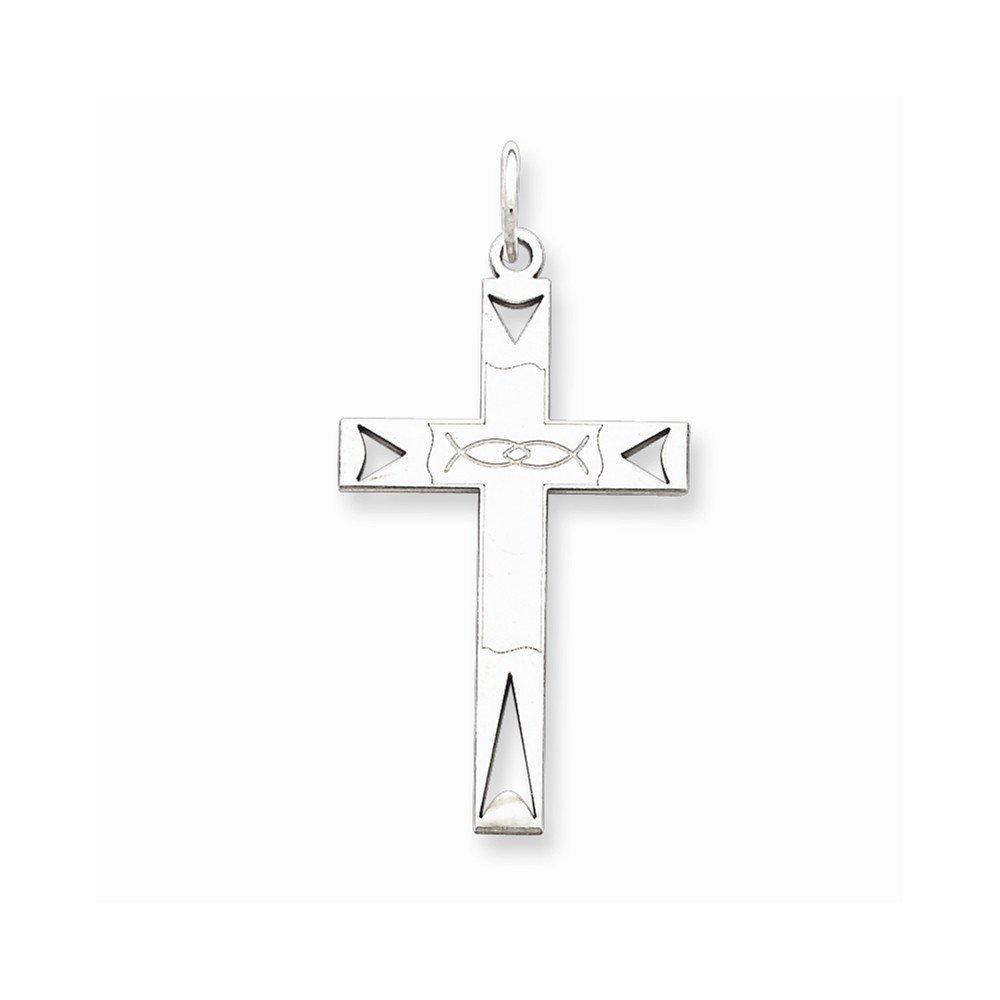 Sterling Silver Laser Designed Cross Pendant Box