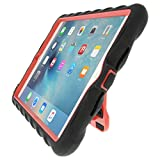Gumdrop Cases Hideaway Stand for Apple iPad Mini 4 (Late 2015) A1538 A1550 Rugged Tablet Case Shock Absorbing Cover, Black/Red