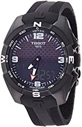 Tissot Men's 'T-Touch Expert' Swiss Quartz Titanium and Silicone Dress Watch, Color:Black (Model: T0914204705701)