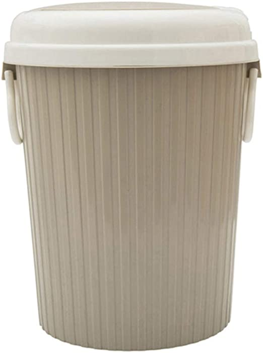 New Pewter Wastebasket Modern Garbage Bin Trash Can Contemporary Waste Basket