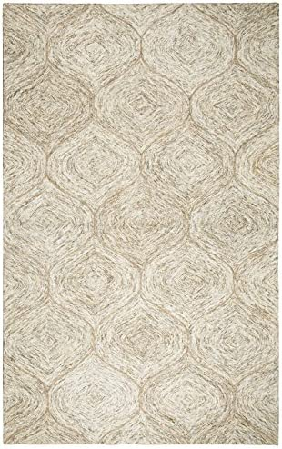 Rizzy Home Brindleton Collection Wool Area Rug, 8 x 10 , Brown Gray Rust Blue Trellis