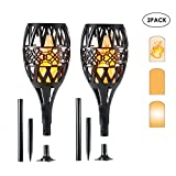 KOBWA [New Version] Solar Lights Outdoor, 96 LED Solar Garden Lighting Dancing Flickering Flames Outdoor Solar Path Torches Lights Lamp for Garden Patio Yard
