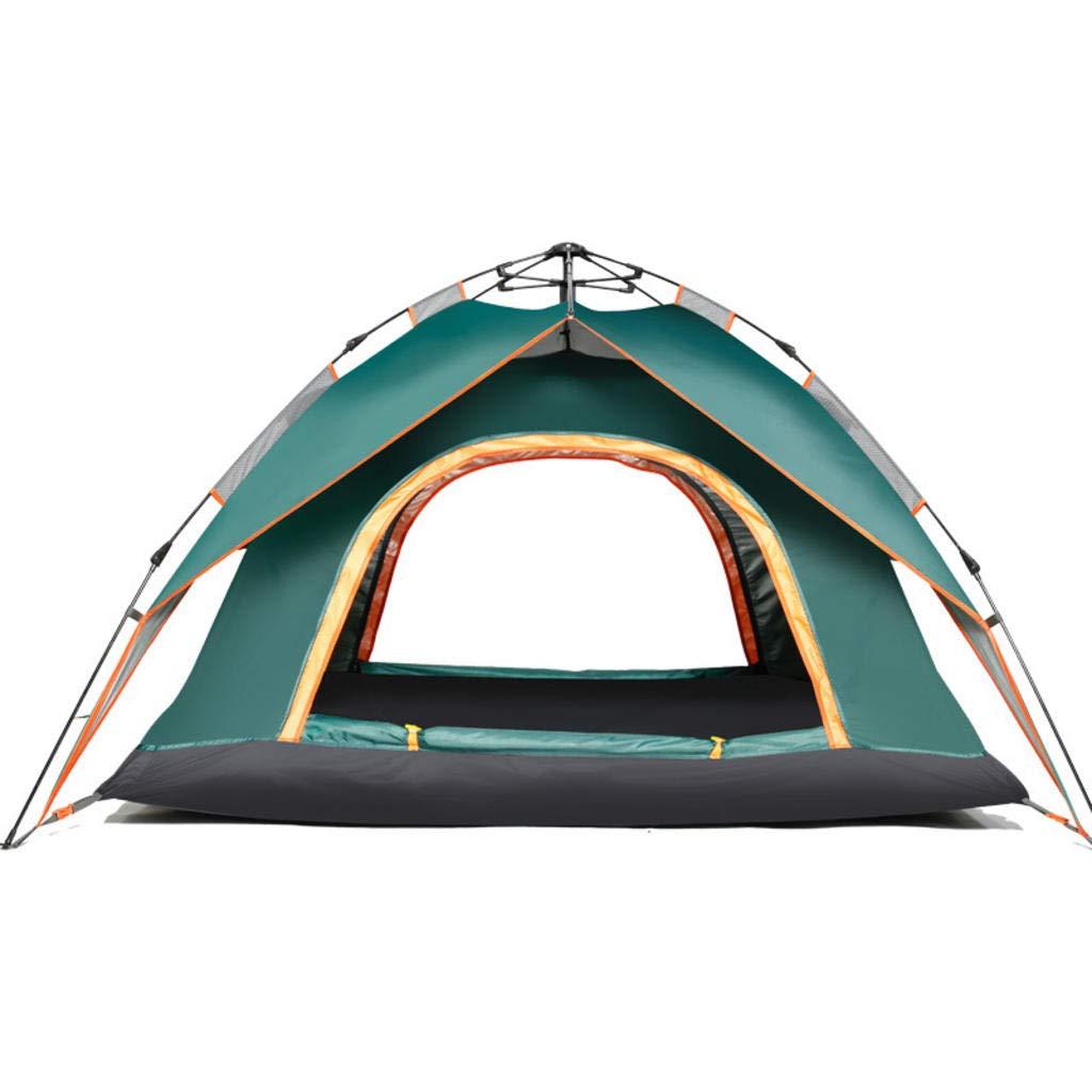 MODKOY Camping Zelt, 3-4 Personen Outdoor Automatische Zelt Double Door Double Door Zelt für Park, Camping, Strand und Angeln