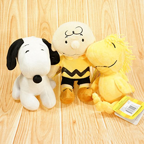 [gg 3pcs/set Peanuts Gang Charlie Brown & Snoopy Woodstock Plush toy Doll Cute gift] (Charlie Brown Schroeder Costume)