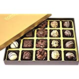Zoroy Luxury Chocolate Signature Gold Box With 20 Assorted Chocolates - 240 Gms