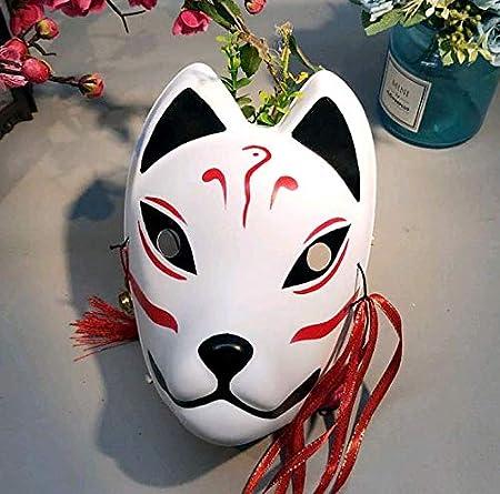 Máscaras De Zorro Japonés Full Cara Pintada A Mano Estilo PVC Fox ...