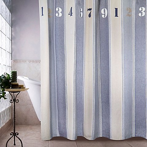 Park B Smith Metro Farmhouse Numbers Shower Curtain
