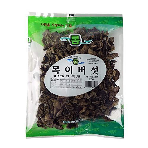 (ROM AMERICA [ 3 oz ] Dried Wood Ears Mushroom / Black Fungus 목이버섯)