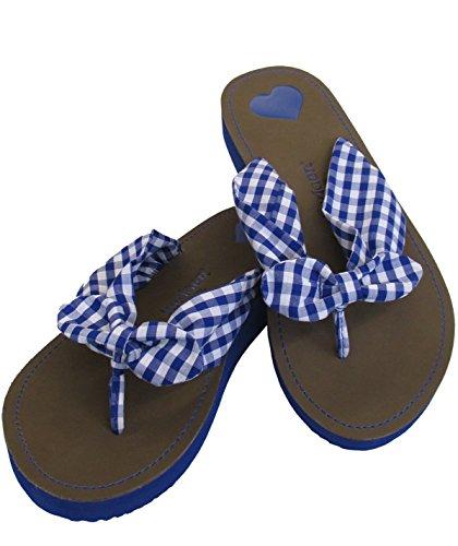 Krüger Madl Flip Flops blau - Sandalias de tela para mujer Azul azul Azul