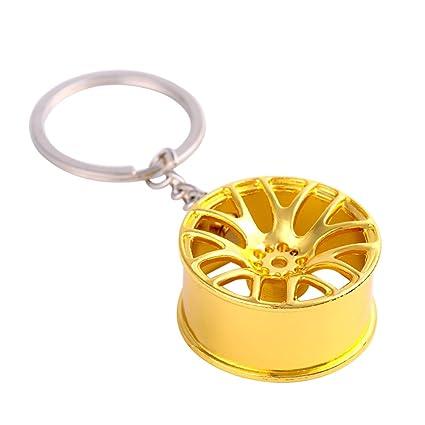 iTemer Anillas para llaveros Llaveros para Parejas Llaveros Personalizados Llaveros casa Hermoso Regalo Estilo Retro Metal Golden Ruedas 1 artículo