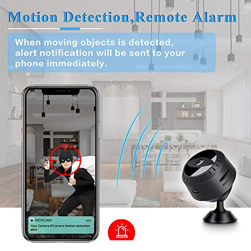 Mini Spy Hidden Camera, LONOVE 1080P Full HD Wireless WiFi Security Video Camera with Night Vision and Motion Detection, Portable Tiny Nanny Cam with Monitor Phone App for Car Indoor Outdoor Home