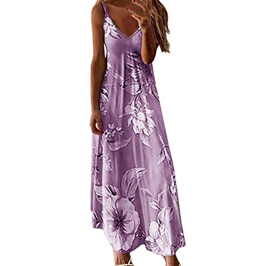 Oksea - Vestido largo para mujer, de verano, bohemio, con ...