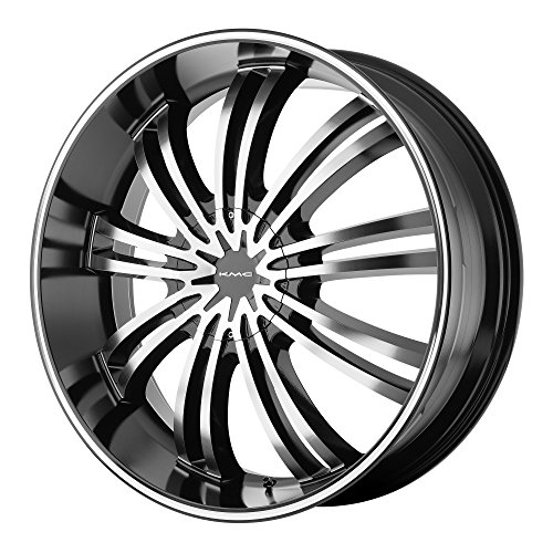 KMC Wheels KM682 Spider Gloss Black Wheel With Machined Face (20x8.5