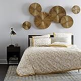 Craftter 6 Pcs Sunburst Golden Color Handmade Metal Wall Art Sculpture Wall Decor And Hanging