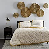 Decorlives Set of 6 pcs Bright Gold Color Sunburst Metal Wall Sculpture Decorative Wall Hanging Art