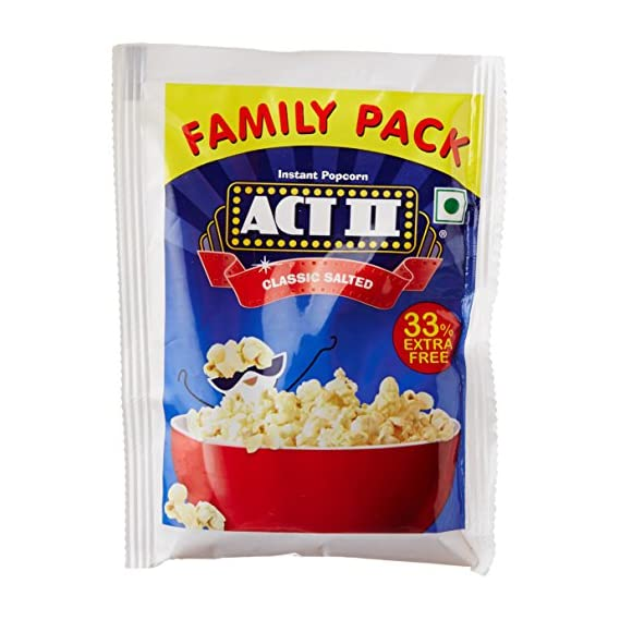 Act II Instant Classic Salted Popcorn , 90g (Extra 30g)