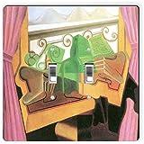 Rikki Knight 2929 Double Toggle Juan Gris Art Open Windows with Hills Design Light Switch Plate