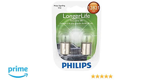 Amazon.com: Philips 12821LLB2 LongerLife Miniature Bulb, 2 Pack: Automotive