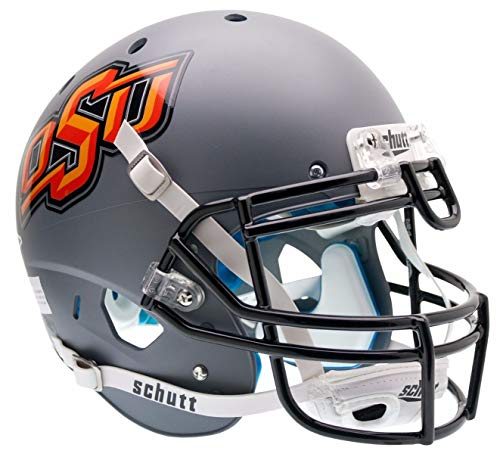 Schutt NCAA Oklahoma State Cowboys Replica XP Football Helmet, Gray Alt. 1