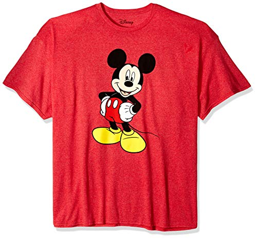 Disney Mickey Mouse Men's Mickey Mouse Funny Graphic Classic Disneyland T-Shirt, red Heather, Small Classic Mickey Mouse Pad