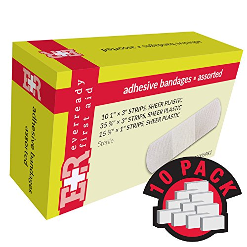 Ever Ready First Aid Adhesive Bandages, Sheer Plastic, Assorted, In Kit Unit Box, 60's, (Adhesive Box Bandage Unit Plastic)