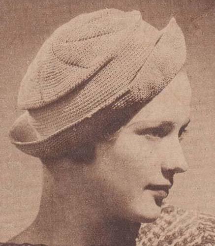 Crocheted Breton Sailor Hat Crochet Tam Cap Pattern (Breton Knit)
